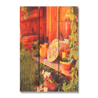 French Pottery 16x24 Indoor/ Outdoor Full Color Cedar Wall Art
