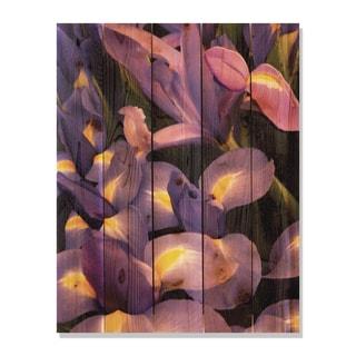 French Iris 28x36 Indoor/ Outdoor Full Color Cedar Wall Art