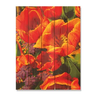 Full Bloom 28x36 Indoor/ Outdoor Full Color Cedar Wall Art
