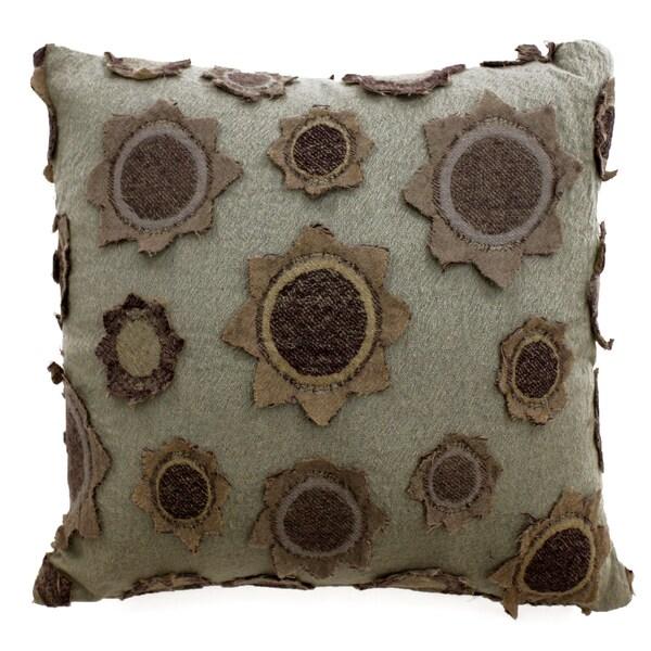 Star Applique Wool Pillow