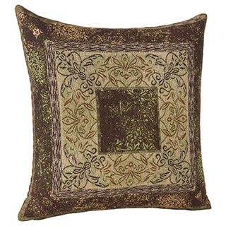 Reversible Paisley and Flower 16-inch Pillow