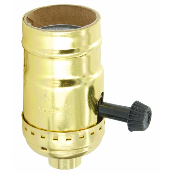 Leviton 079-07070-0PG Polished Gilt Brass Lampholder Incand