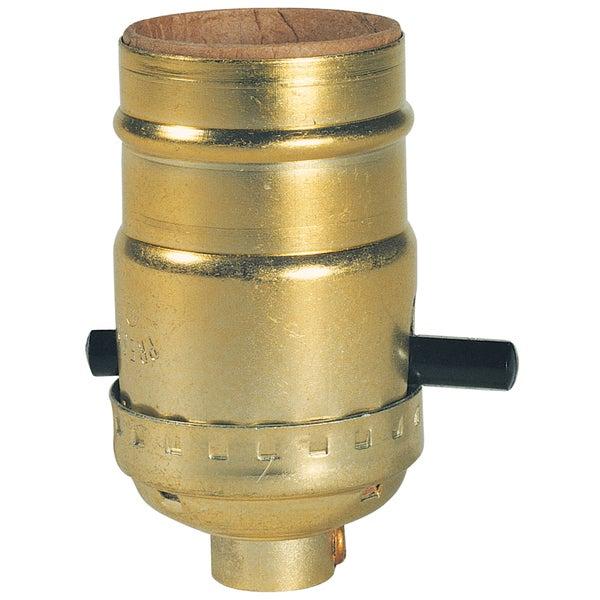 Westinghouse 7041000 Brass Finish Push-Through Socket With Set Screw