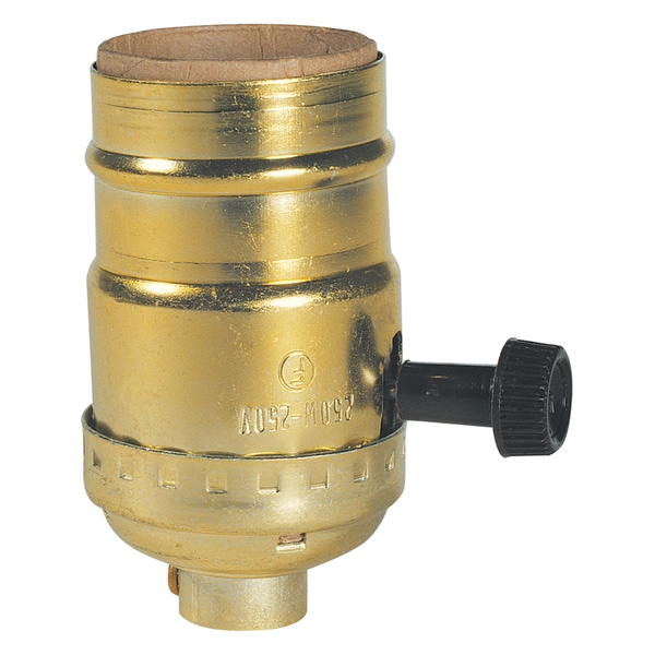 Westinghouse 7041300 Brass Finish On/Off Turn-Knob Socket