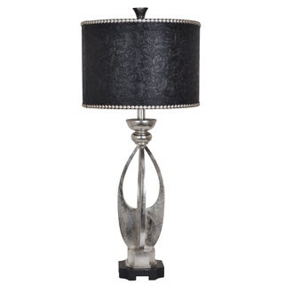 Crestview Collection 38.5-inch 1-light Silver Leaf Table Lamp