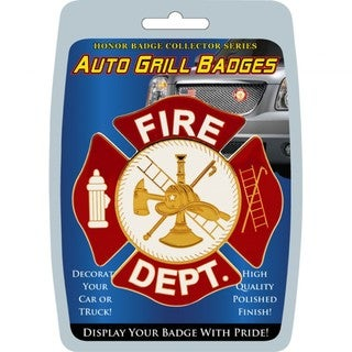 Fire Department Automobile Grill Badge