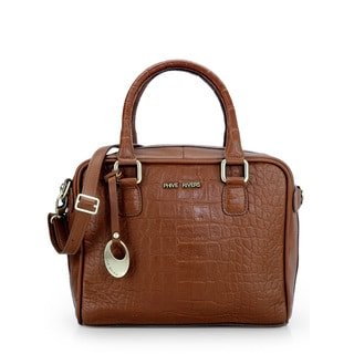 Phive Rivers Womens Leather Handbag (Tan) (PR1079)