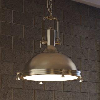 Vonn Lighting Dorado 16-inches LED Pendant Light Adjustable Hanging Industrial Pendant Lighting in Satin Nickel