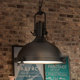 Dorado 16-inches LED Pendant Light Adjustable Hanging Industrial Pendant Lighting in Architectural Bronze
