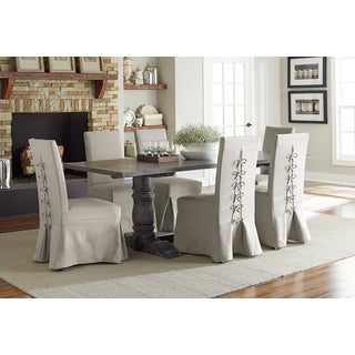 Muses Grey Finish Rectangle Dining Table
