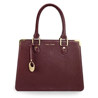 Phive Rivers Womens Leather Handbag (Burgundy) (PR1087)