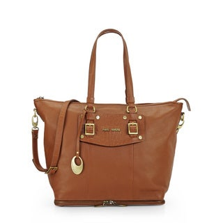 Phive Rivers Womens Leather Shoulder Bag (Tan) (PR1090)