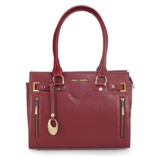 Phive Rivers Womens Leather Shoulder bag (Burgundy) (PR1098)