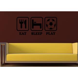 Eat Sleep Play Wall Art Sticker Decal