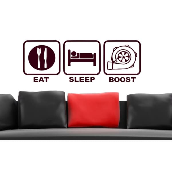 Eat Sleep boost Wall Art Sticker Decal Brown