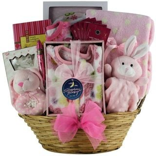 Great Arrivals Welcome Home Baby Girl Gift Basket