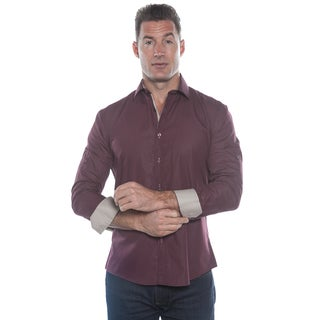 Isaac B. Red Long Sleeve Button Down Shirt
