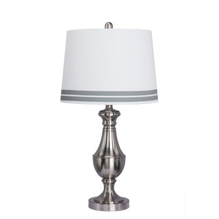 26-inch Brushed Steel Metal Table Lamp