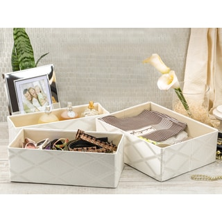 Galliana 3 Piece Collapsible Drawer Storage Organizer Set