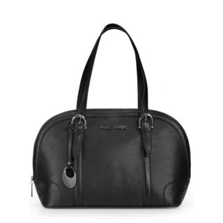 Phive Rivers Womens Leather Shoulder bag (Black) (PR1099)