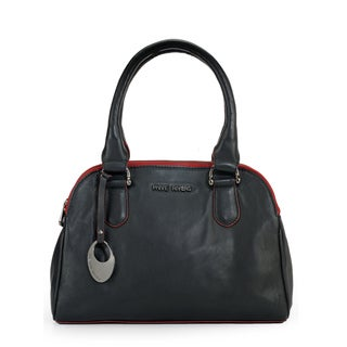 Phive Rivers Womens Leather Handbag (Black) (PR1096)