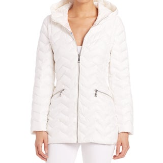 Dawn Levy Cleo White Down Packable Jacket Vest