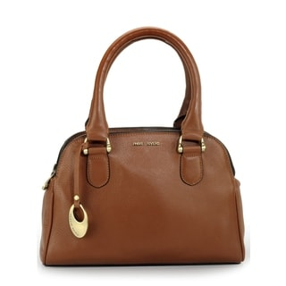 Phive Rivers Womens Leather Handbag (Tan) (PR1095)
