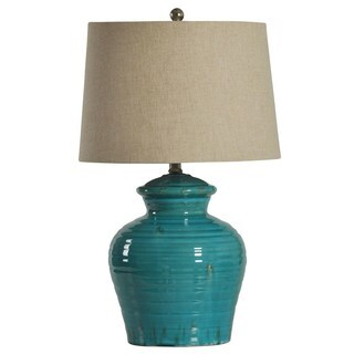 Turquoise Ceramic Jug Table Lamp
