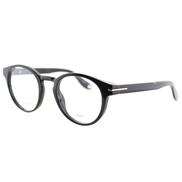 Givenchy GV 0002 807 Black Plastic Round 49mm Eyeglasses