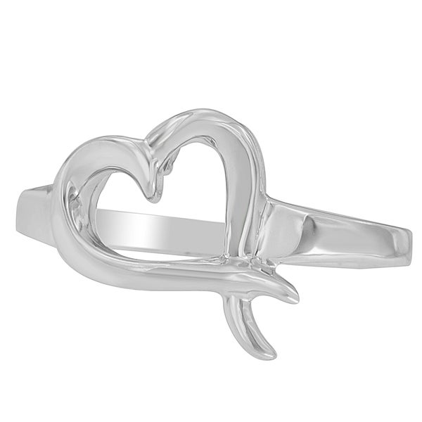 Sterling Silver Heart-shaped Ring