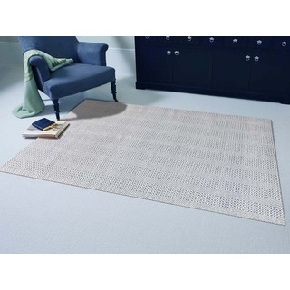 Hand-Woven Broadmoor Blue Wool and Cotton Durry Area Rug (8' x 10')