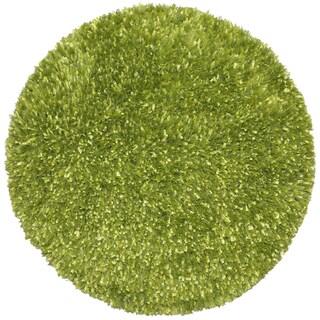 Green Shimmer Shag Rug (2'x2')