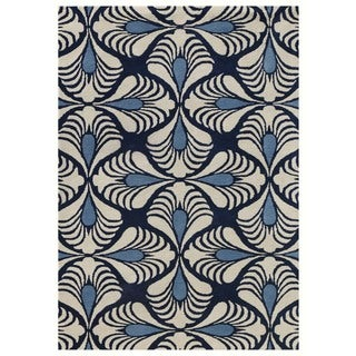 Hand-Tufted Gabriel Navy Blue Blended New Zealand Wool Area Rug (8' x 11')