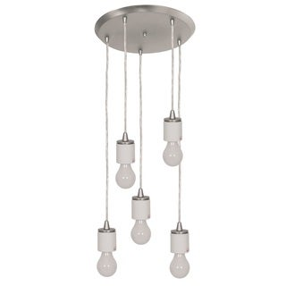 Access Lighting Circ 5-light Brushed Steel Round Pendant Assembly