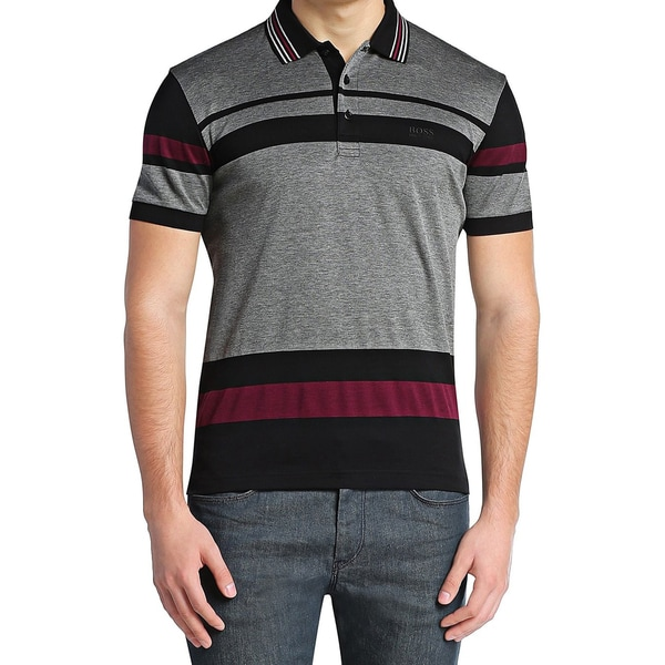 Hugo Boss Paddy Striped Pique Polo T-Shirt