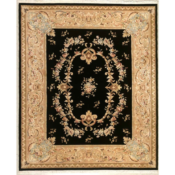 Hand-knotted Flower Area Rug (5' 9 x 8' 9) 18089948