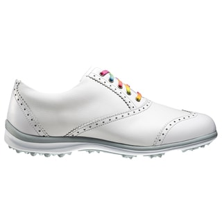 FootJoy LoPro WingTip Golf Shoes 2015 Ladies CLOSEOUT White/Silver