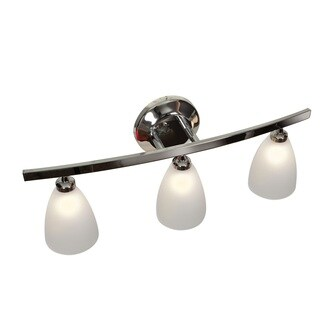 Access Lighting Sydney 3-light Chrome Mania Glass Vanity with Frosted Shade