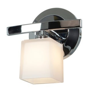 Access Lighting Sydney 1-light Chrome Hermes Glass Vanity with Opal Shade