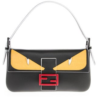 Fendi Monster Saffiano Leather Baguette