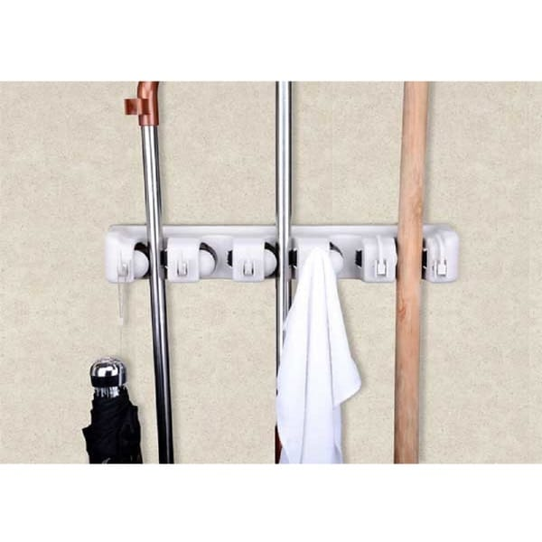 Wall Mop and Broom Organizer