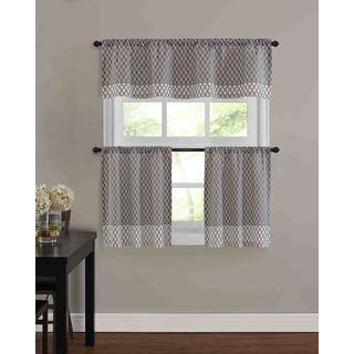 Baroque Kitchen Tier Window Treatment (3 Piece Set)