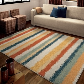 Carolina Weavers Bright Color Warwick Multi Area Rug (5'3 x 7'6)