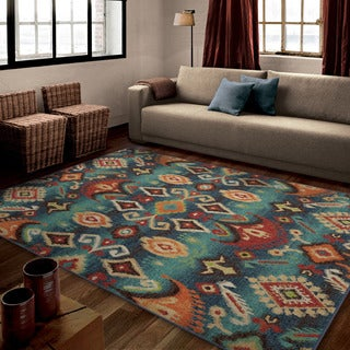 Carolina Weavers Bright Color Monaco Multi Area Rug (5'3 x 7'6)