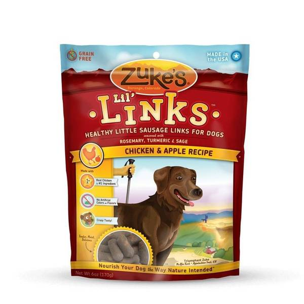 Zuke's Lil' Links Healthy Grain Free Little Sausage Links for Dogs
