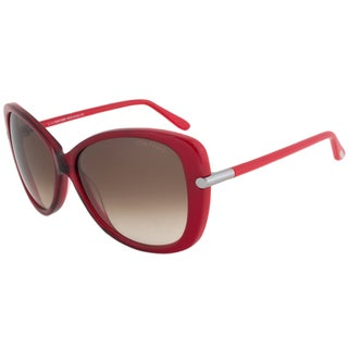Tom Ford FT0324 68F Linda Oversized Butterfly Sunglasses