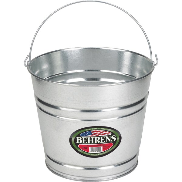Galvanized Steel 10 Quart Pail