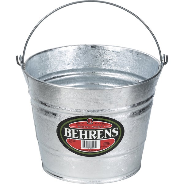 Hot Dipped 8 Quart Steel Pail