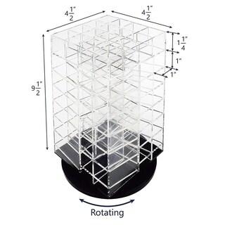 Ikee Design Premium Acrylic Rotating Cosmetic 64 Lipsticks Tower Organizer