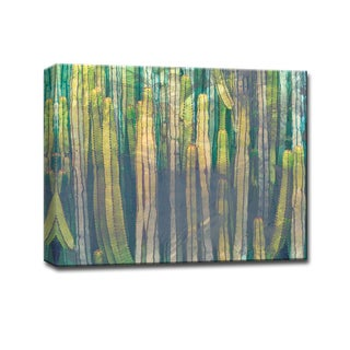 Cactus Gem' Botanical Wrapped Canvas Wall Art